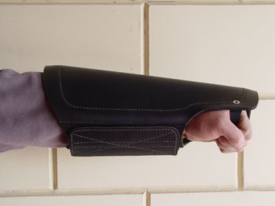 Protection arm cover made of leather for training