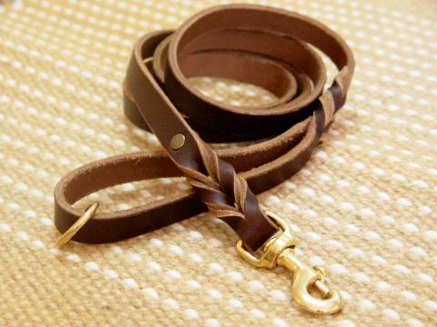 leather dog lead for dog training,ealking,tracking