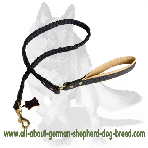 Non-rubbing leather dog leash