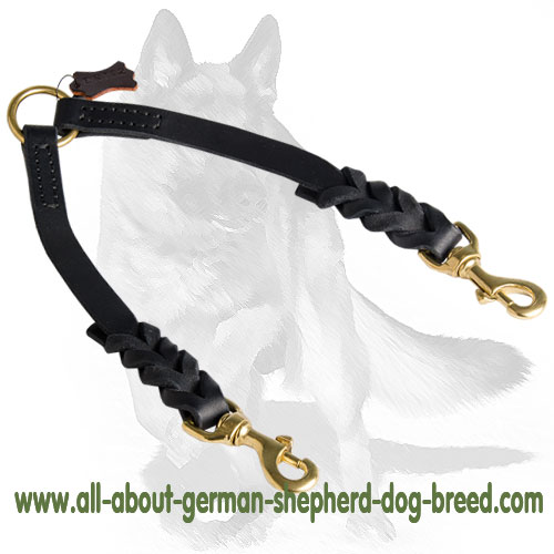 Walking leather dog leash easy in use