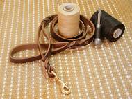 Leather Dog Lead With Extra Handle for walking