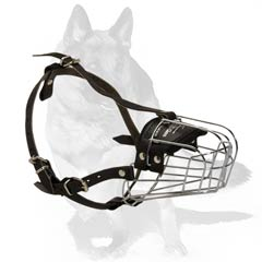 Aired muzzle with wire basket