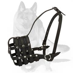 Spacious muzzle with well ventilated basket