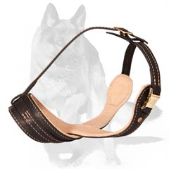Light weight Nappa padded leather muzzle