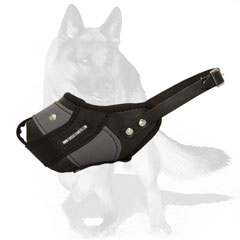 Strong muzzle with adjustable leather strap