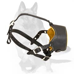 Specific anti-barking muzzle with padding