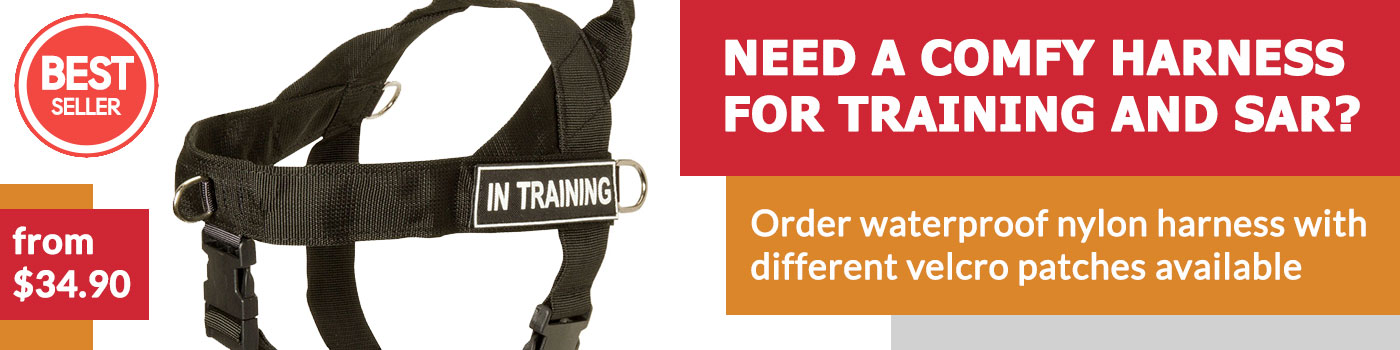 Nylon Search and Rescue Harness for working German Shepherds